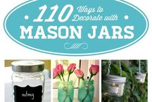 Mason Jar Love / Because mason jars rock. The proof is in the pinning: check out all these fun ways to use these simple jars!