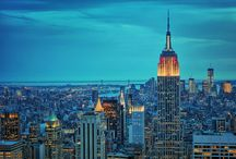 "Bustling New York City / Because ""there is something in the New York air that makes sleep useless"" ~ Simone de Beauvoir"