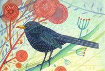 My work: Beautiful Birds / birds, hares, wildlife,  Michelle Campbell Art. Licensed Art, Licensing, Art for Licensing.