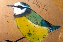 My work: Cards - Hand Painted / birds, hares, wildlife,  Michelle Campbell Art. Licensed Art, Licensing, Art for Licensing.
