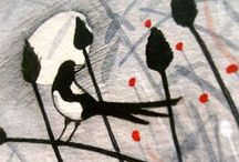My work: Bird sketches / birds, hares, wildlife,  Michelle Campbell Art. Licensed Art, Licensing, Art for Licensing.