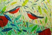 My work: Birds / birds, hares, wildlife,  Michelle Campbell Art. Licensed Art, Licensing, Art for Licensing.