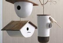 Pottery ♣Bird Houses