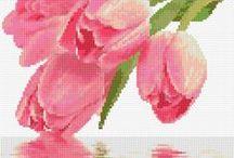 fiori a punto croce / punto croce