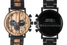 NFL Watches - Gifts for NFL Football Fans - Wood NFL Football Watches - Football Anniversary Gifts - Football Gifts For Your Boyfriend - Football Personalized Gifts / Hybrid NFL Football Watches made with Metal and Wood. Mens titanium and wood watches for football lovers