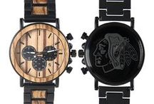 NHL Watches - Gifts for NHL Hockey Fans - Wood NHL Hockey Watches - Hockey Anniversary Gifts - Hockey Gifts For Your Boyfriend - Hockey Personalized Gifts / Hybrid NHL Hockey Watches made with Metal and Wood. Mens titanium and wood watches for hockey lovers