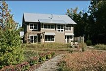 "The Glenn Retreat Project / A LEED for Homes ""Platinum"" project. A Modern Farm House."