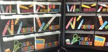 Teacher Organization / A collection of classroom organization tips and ideas for teachers to use in their classrooms!