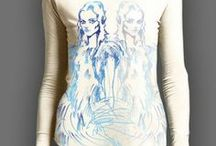 Iconclub Watercolour Tops / Fashion tees with printed illustrations and graphics by Barbara Hulanicki