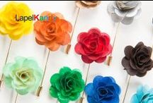 LAPEL KANDY (Lapel Flowers) By. William Malcolm Luxe Collection / The Ultra Luxe Lapel Kandy designs are an exquisite collection of handmade lapel flowers. They are a stunning display of innovative, creative and classic men's lapel accessories.   In nature flowers are very similar yet each hold individual characteristics no two are alike. Each flower is meticulously hand cut and assembled to the most Luxe specifications.