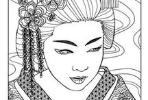 Japan coloring pages / Many drawing of Japan to visit the country with coloring pages.  See more --> http://www.coloring-pages-adults.com/japan/