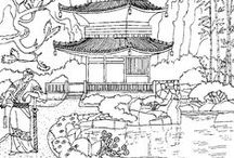 China coloring pages / Many drawing of China to visit the country with the coloring pages.  See more --> http://www.coloring-pages-adults.com/china-asia/