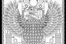 Egypt coloring pages / Travel in Egypt history with our many coloring pages. See more --> http://www.coloring-pages-adults.com/coloring-egypt-hieroglyphs/