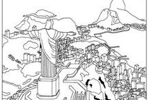 Architecture coloring pages / Many drawing of architecture for coloring pages.  See more --> http://www.coloring-pages-adults.com/architecture-living/