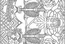 Unclassifiable coloring pages / We can choose a topic for this coloring pages... it's so hard !  See more --> http://www.coloring-pages-adults.com/coloring-unclassifiable/