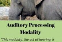 Auditory Processing Modality / Information about how individuals process or understand the world using their ears, hearing or auditory processing modality if their auditory processing modality is their strength.  Also demonstrates how auditory sensitivity comes into play.