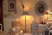 Au Coeur d'Autrefois / Décoration de Charme et Shabby ... Patine sur meubles anciens ... Créations tissus anciens en décoration ...