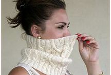 knitted cowls and scarves