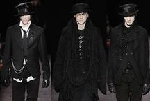 Mens Fashion Dark Edge / High Fashion. Sharp. Gothic. Rocker. Biker. Nomad. Post Apocalypse. Dandy.