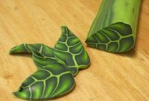 Leaf & feather canes