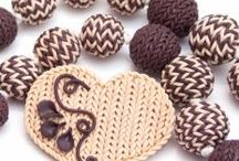 Knitted polymer clay