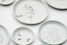 o n e  o f  a  k i n d  p l a t e / Together with Studio Elke van den Berg, I made these plates.   Elke hand-casted every plate and I did the drawings. Every plate has it's own unique drawing which made it a very exciting project to fulfil.