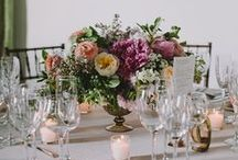 true colors / A rainbow of inspiration for your reception centerpieces