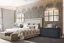 English Mood • The bedroom • / The English Mood bedrooms bring out the original style of the Old English houses. The charm of the simple and accurate decoration is accompanied by the comfort of contemporary design.