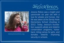 """Jessica Rekos Foundation / Jessica Rekos was a beautiful six year old girl whose life was taken in the Sandy Hook Elementary School shooting in 2012.  She spent her time """"researching"""" whales and loved horses as well.  Our marine lab onboard the American Star is dedicated to Jessica Rekos. This past field season we had an extremely successful fundraiser for the Jessica Rekos Foundation."""