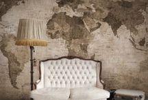 REBEL WALLS MAPS / Murales- mapas mundi (Papeles Pintados)
