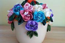 Selyemvirág mázas kaspóban! / Saját készítésű selyemvirág!