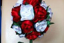 Rózsafa / Selyemszalagból készült fácska