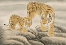 Chinese Tiger Paintings / Chinese Tiger Paintings from CNArtgallery.com. http://www.cnartgallery.com/86-chinese-tiger-paintings
