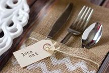 Rustic Country Wedding / Rustic weddings with burlap, lace, muslin, cheesecloth and more!