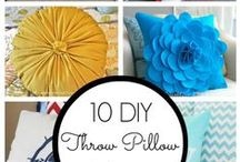 Pillow Form Pop! / Add a touch of colour, class, or both with these decorative pillow ideas! Burlap covers, fabric covers, and so much more. Down feather, synthetic down, microfiber and polyester pillow forms are just the start!
