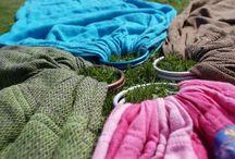 Trageherz Equipment / Meine Tücher, Slings und Tragehilfen
