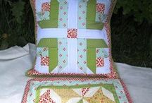 * Pillows/cushions I made ...* / All kind I made : quilted, monogrammed: business and fun