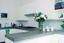 Concrete in the kitchen / Industrial chic that can be surprisingly luxe