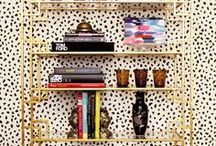 bookshelf styling / by Jane Gallant @ modern jane