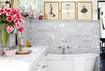 bathroom inspiration / by Jane Gallant @ modern jane