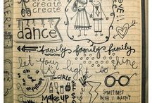 letters and doodles