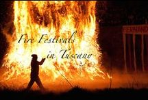 "Fire Festivals in Tuscany / There are several festivals somehow linked to ""fire"" in Tuscany. Sometimes they include torchlights or bonfires, other times they involve impressing candlelights and in some cases there is even an explosion!"