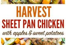 sheet pan dinners / the sheet pan is our best friend. easy weeknight recipes for the cook that hates clean up duty.
