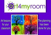 Art for Teachers & Kids / art4myroom.com.au - an entire digital visual arts program with full lessons and colourful artwork