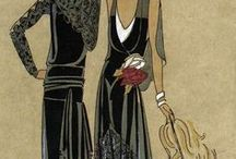 Flapper and vintage fashion templates