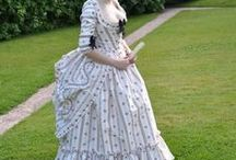 Dressed in historical/period costumes