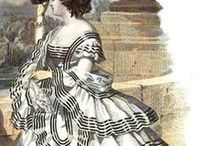 Victorian and Civil war era fashion templates (crinoline)