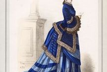 Late Victorian fashion templates (bustle)