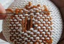 DIY mending knit