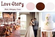 Love Story Wedding / Everybody loves a good romantic story. There are so many of them: Snow White, Pride & Prejudice, Twilight, etc. Lovely fairytale dreams that come from books. How can you choose just one? This wedding style has romantic & feminine blush and white colors but is completed with masculine dark wood.